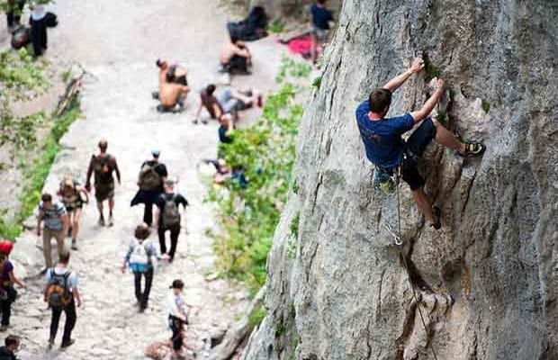 Free climbing in Paklenica National park