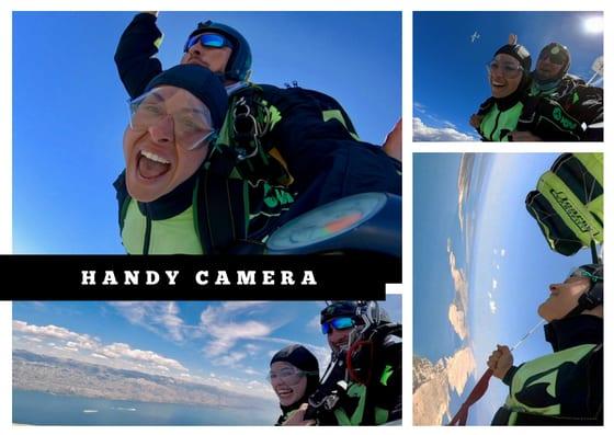 Handy camera skydiving option