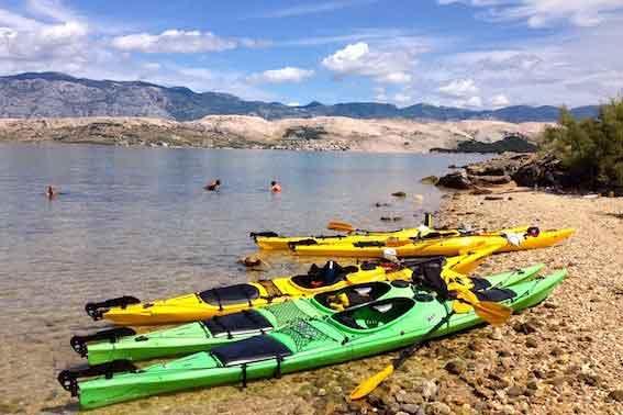 Sea kayaking adventure in Croatia