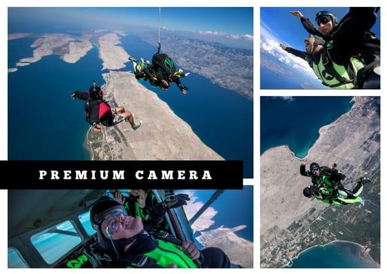 Premium skydiving video option
