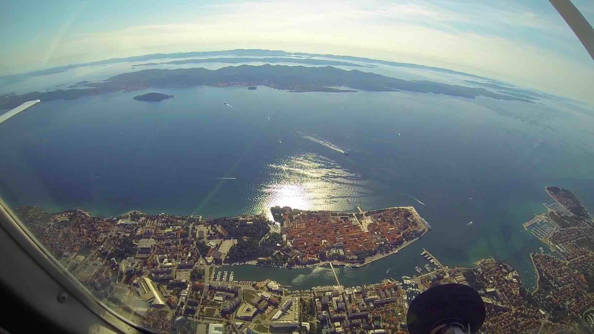 Skydiving above Zadar in Croatia