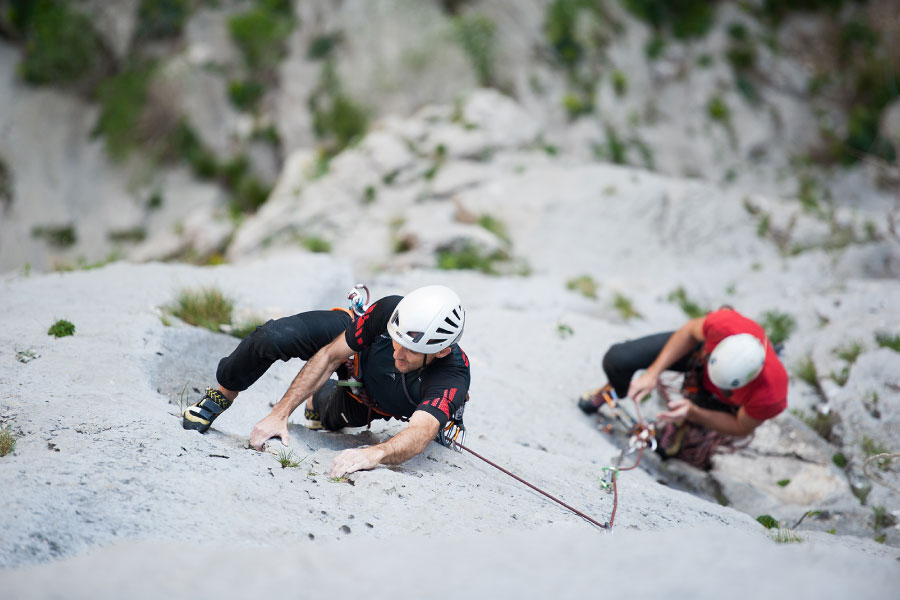 Multi pitch climbing adventure in Croatia