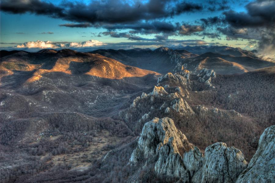 Velebit aerial photo