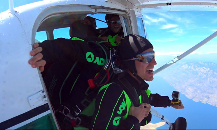 Skydiving smile