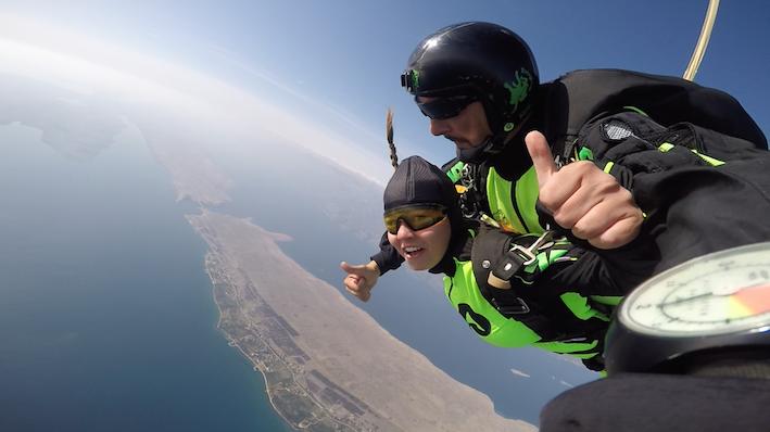 Tandem skydive in Croatia