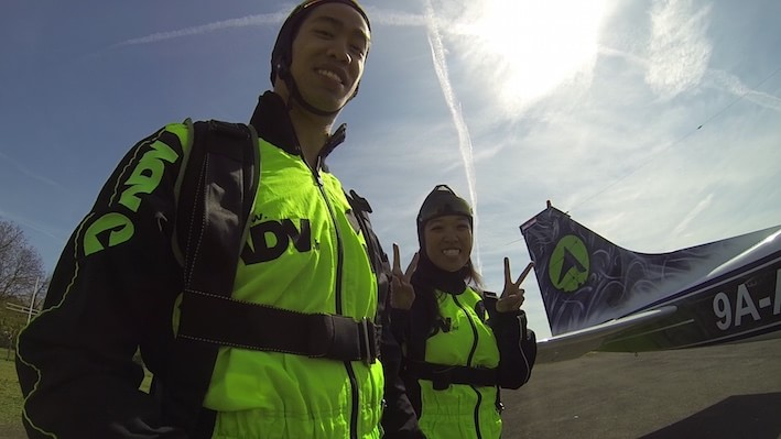 Skydiving in Zagreb with ADV