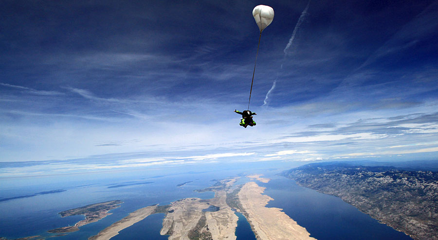 Skydive in Croatia above National parks