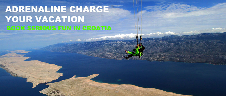 Tandem skydiving experience in Croatia