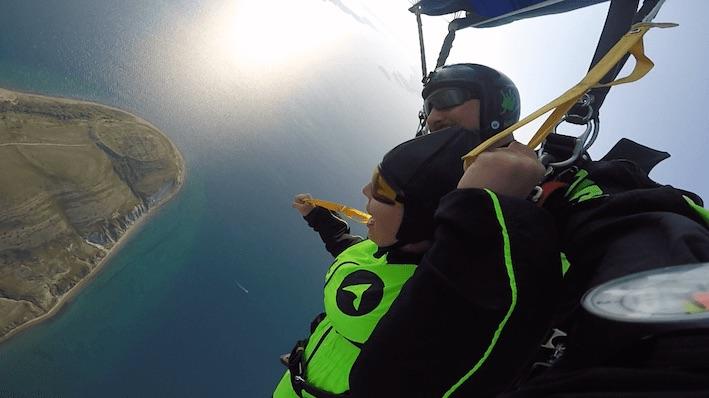 Skydiving Croatia above Zadar