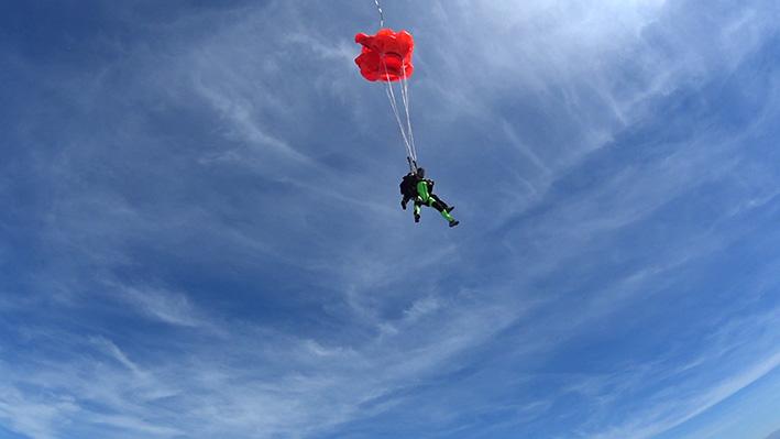 tandem skydiving parachute opening