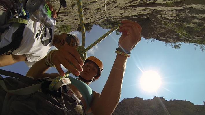 Learning climbing knots