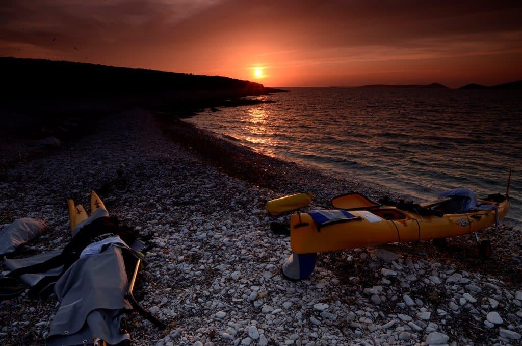 Kayak at long island Croatia