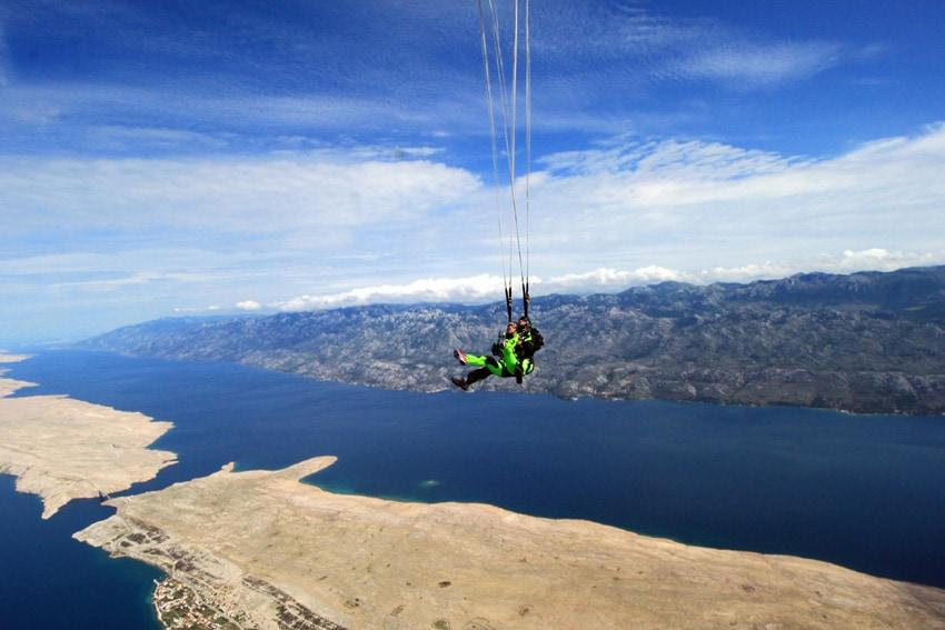 Parachute opening Velebit