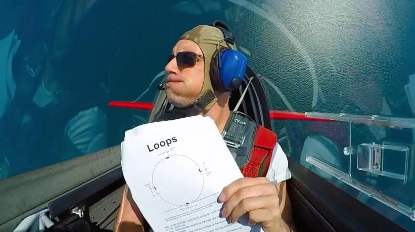Funny aerobatics with Extra 300