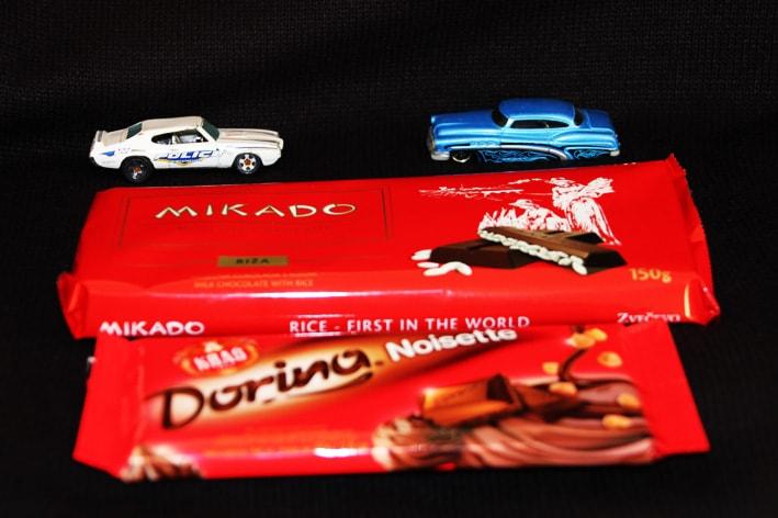 Mikado i Dorina chocolate product of Croatia