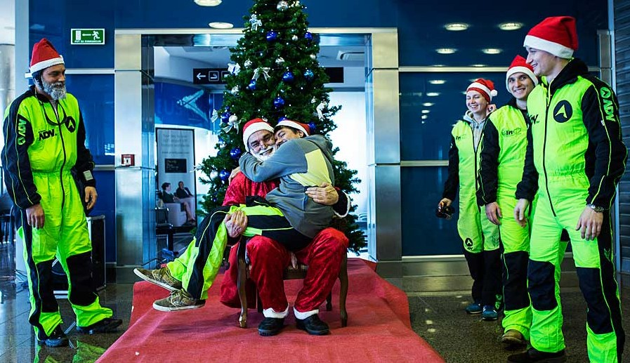 Skydiving Santa Clause in Croatia