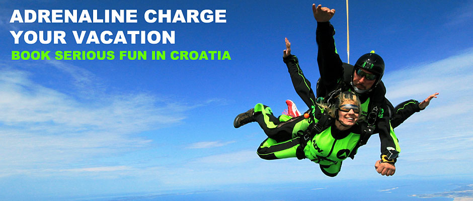 Skydiving in Croatia - Tandem jump