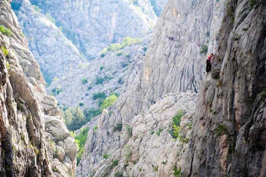 Paklenica climbing area