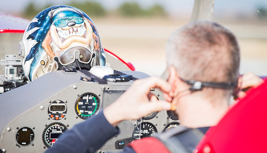 Preparing for aerobatic flight