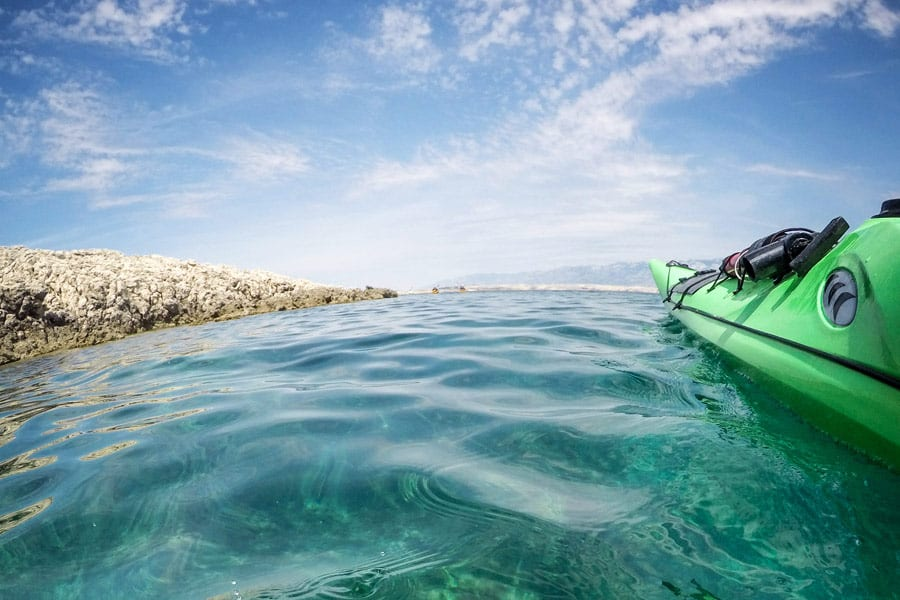 Adriatic sea kayaking Croatia