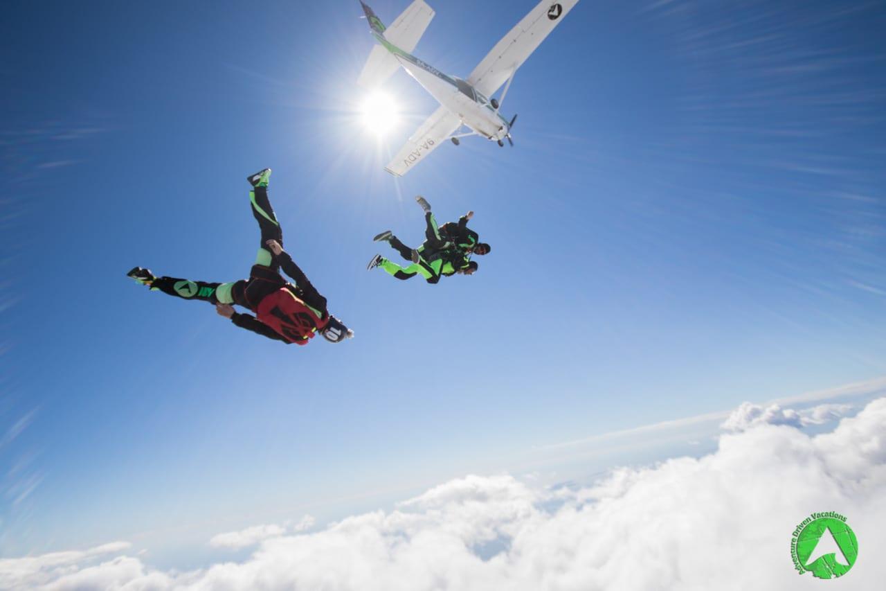 Epic skydiving photography in Zadar Croatia