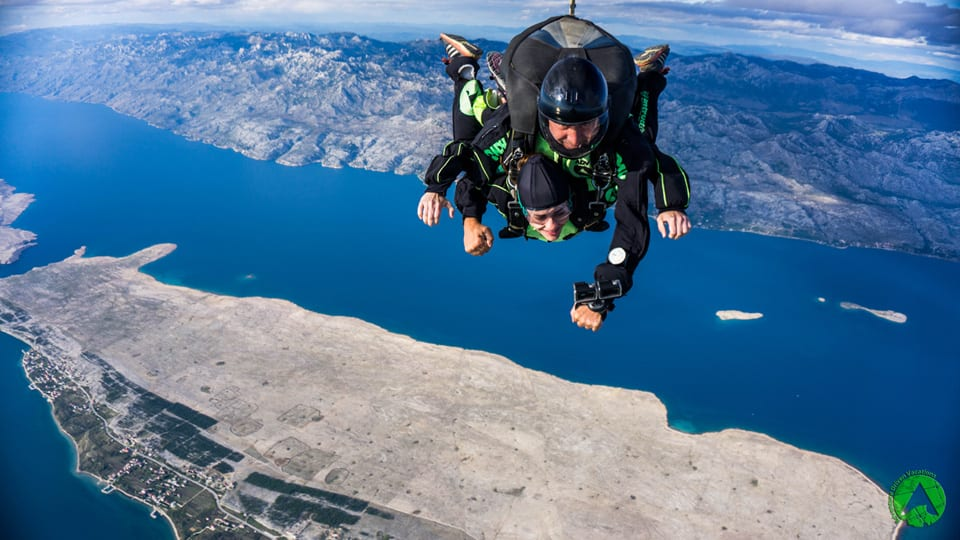 Skydiving Zadar with the View on Mountain Velebit