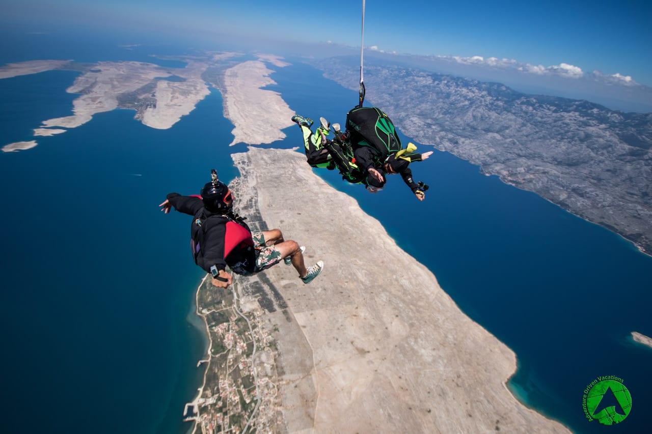 saut en parachute croatie zadar