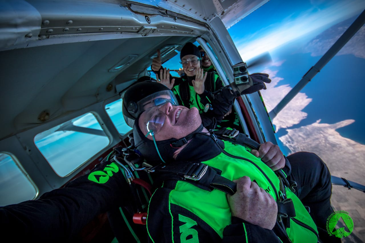 Adrenaline thrill before skydive in Zadar Croatia