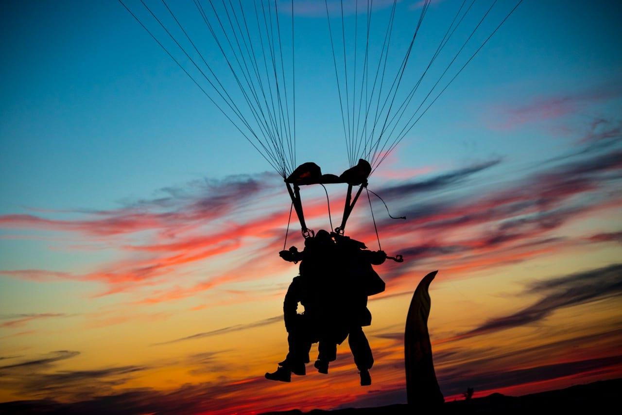 skydive zadar croatia sunset
