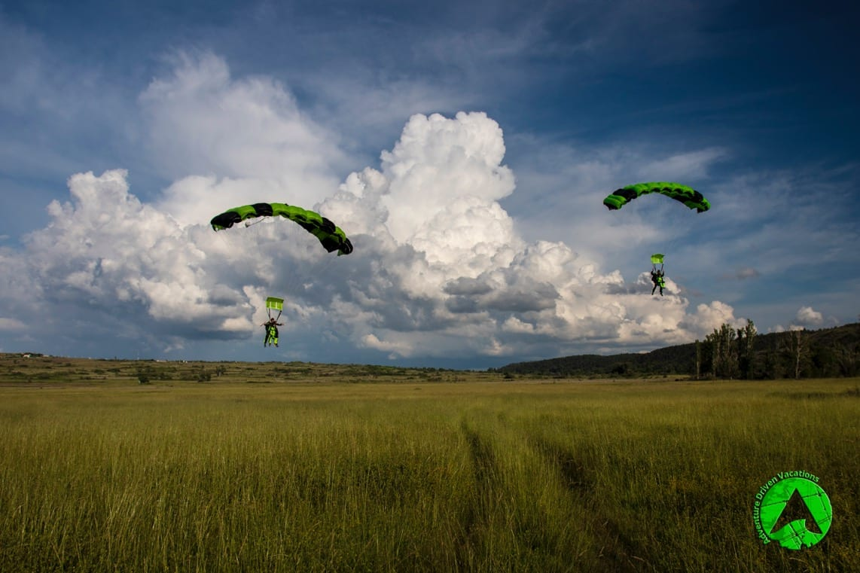 tandem skydiving Croatia great landing photo